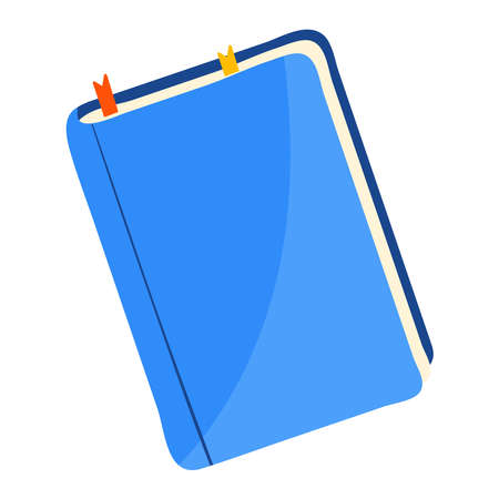 Notepad for writing isolated on white flat style vector illustration.