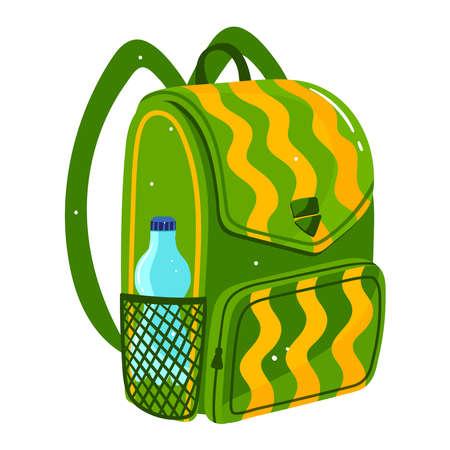 Backpack luggage isolated on white design cartoon style vector illustration. 向量圖像