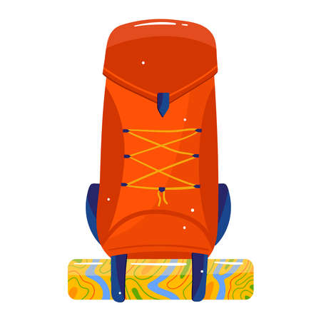 Travel suitcase design cartoon style vector illustration.