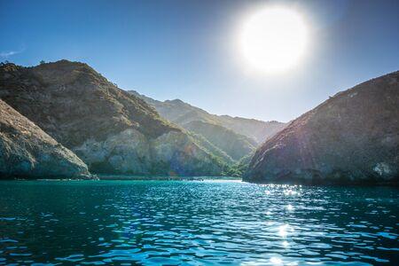 Catalina Island before sunset Stock Photo