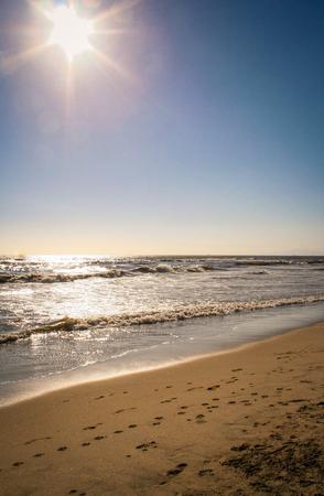 Huntington Beach, California Seaside Sunset Stock Photo