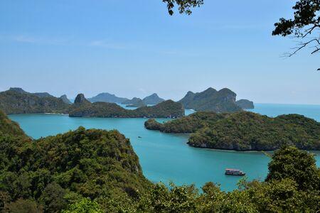 angthong: Wua-ta lab Island at Angthong National Park in Thailand Stock Photo