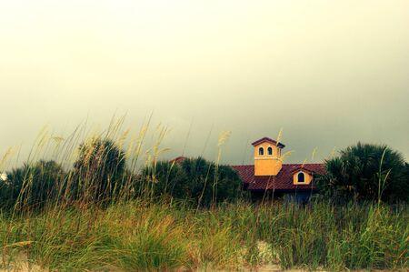 myrtle beach: Myrtle Beach with cloudy skies