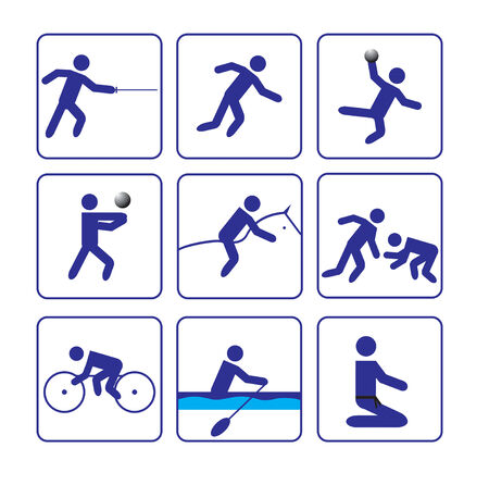 Second sports stylize icons set  vector  Vector