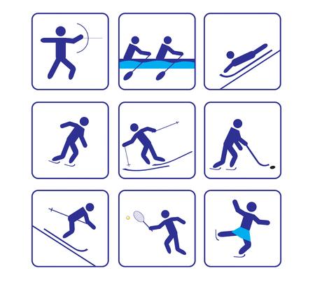 stylize: Derde sport stiliseren iconen in vector