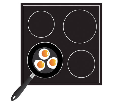 cooking eggs on the pan in vector format Stock Vector - 4332990