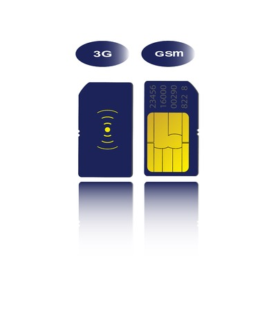 smartcard: Isolated sim cards in vector as a concept of communication