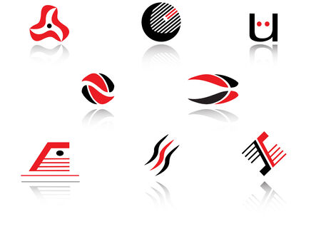 media logo: Set of isolated symbols for branding designers Illustration
