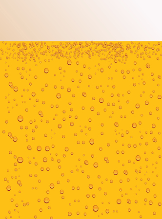 Drops on the beer glass as a background Illustration