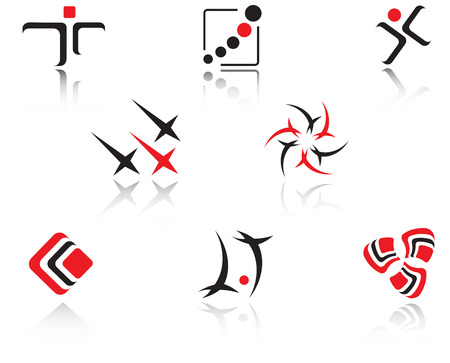 Set of isolated symbols Vector