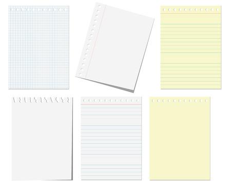 Isolierte Seiten Notebooks auf den weißen