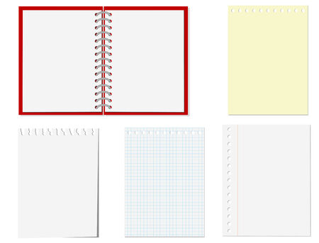Isolated pages of notebook on the white Stock Vector - 4626465