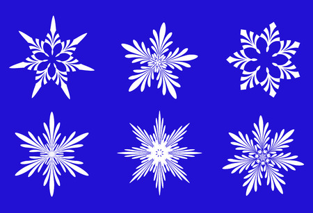 Set of snowflakes isolated on background Stock Vector - 4796214