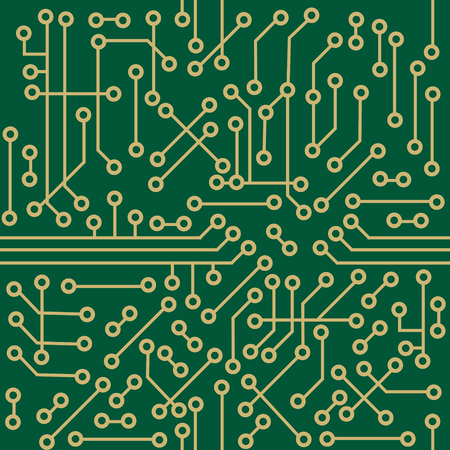 Seamless microcircuit as a technology concept or background Vector