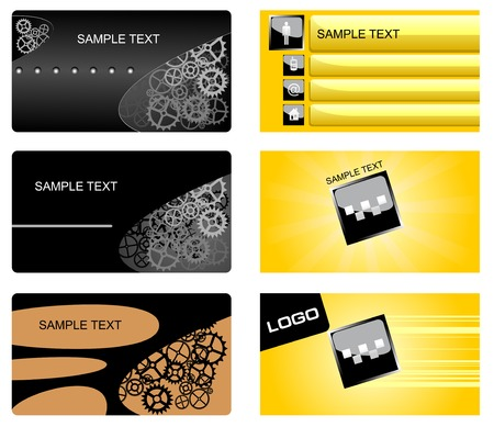Set of  business cards isolated on white Vector