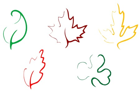 Set of leaves icons Stock Vector - 5194489