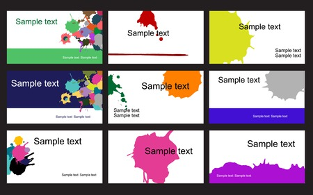 namecard: Set of business cards isolated on background Illustration