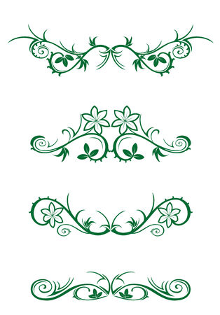 Vector decorations isolated on white background Vector