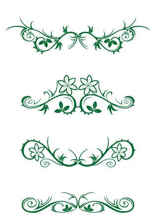 Vector Dekorationen isoliert auf weißem Hintergrund