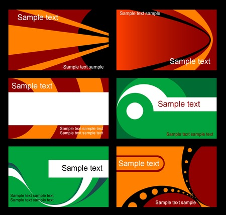 Set of business cards isolated on background Vector