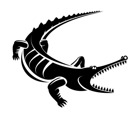 the reptile: Isolated shape of crocodile as a mascot