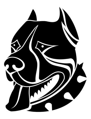 agression: Guard Dog isol� comme un symbole ou un embl�me