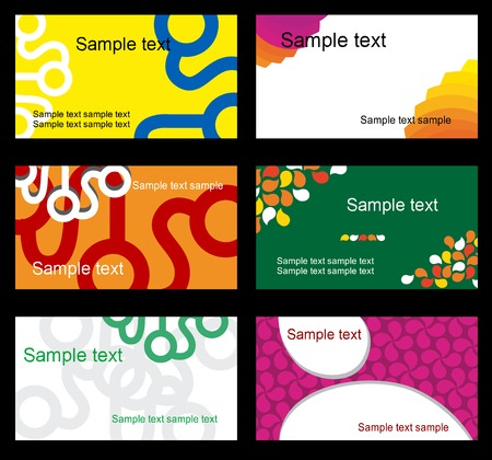 Set of business cards isolated on background Stock Vector - 5393768