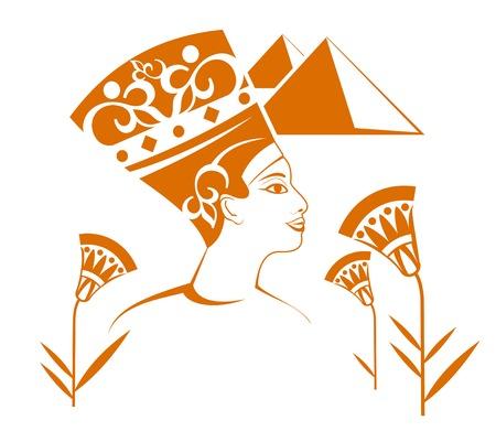 ojo de horus: Decoraci�n hermosa egipcia aisladas sobre fondo blanco