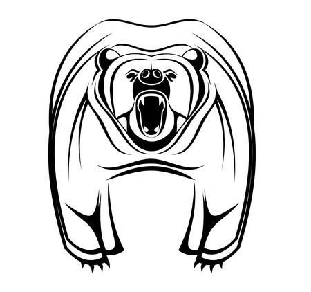 Wild bear as a mascot isolated on white Stock Vector - 5394545