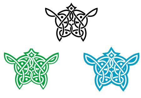 Celtic ornament for design isolated on white Vector