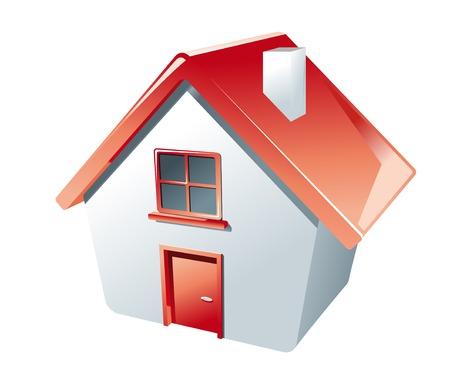 case moderne: Icona di casa isolata on white come simbolo del bene immobile  Vettoriali