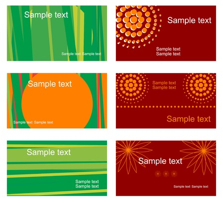 Set of business cards isolated on background Stock Vector - 5532677