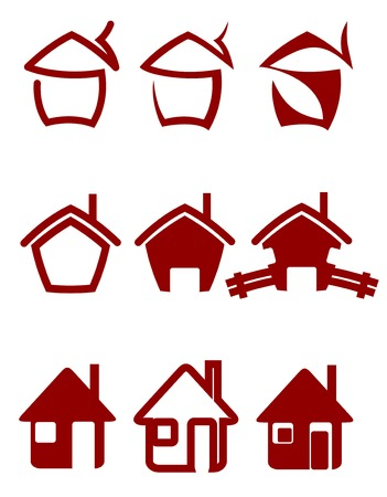 Real estate symbols for design and decorate Vector