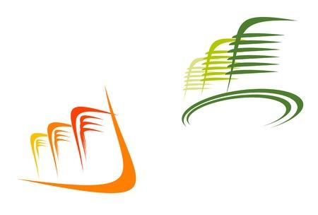 logo batiment: Symboles immobiliers à la conception et la décoration