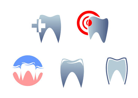 Dental signs and symbols for medicine icons Stock Vector - 5589262