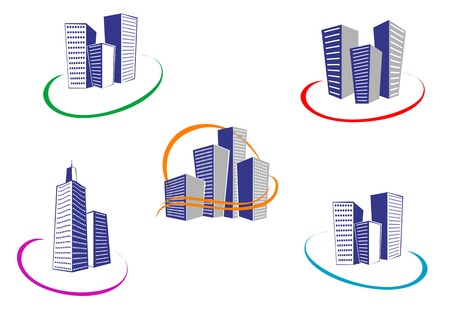 Symbols of modern and ancient buildings for design Stock Vector - 5609153
