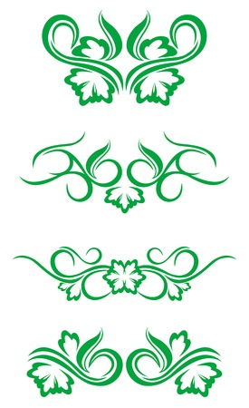 Flourishes decorations isolated on white background Stock Vector - 5609141