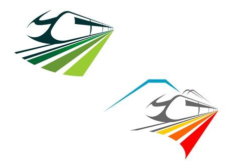 eisenbahn: Eisenbahn und u-Bahn Symbole f�r Design, die isoliert auf wei�