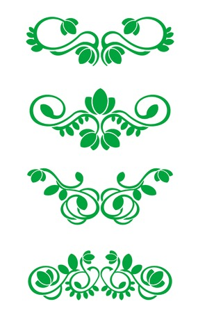 Flourish decorations for design isolated on white Stock Vector - 5647597