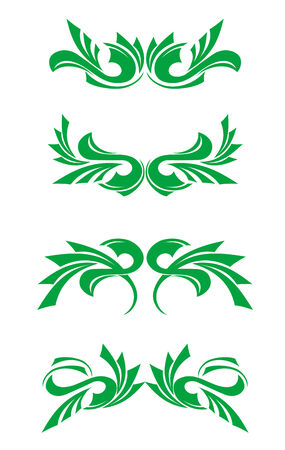 Flourishes decorations isolated on white background Stock Vector - 5664338