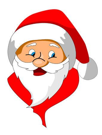 Funny Santa Claus as a christmas icon or symbol Stock Vector - 5690358