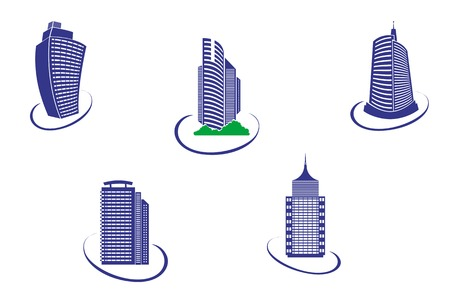 Symbols of modern and ancient buildings for design Stock Vector - 5690363