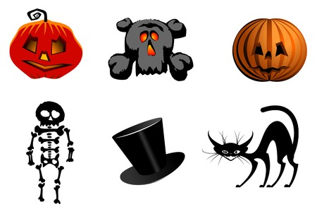 Isolated halloween icons and symbols for design Stock Vector - 5690380