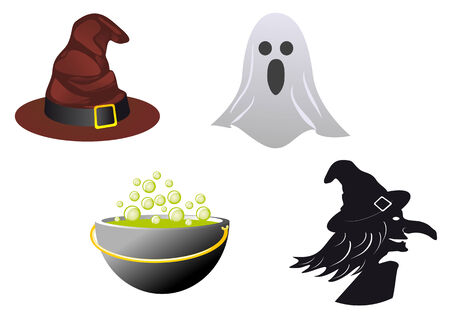 Isolated halloween icons and symbols for design Vector
