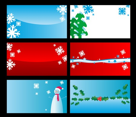 Set of christmas cards isolated on background Vector