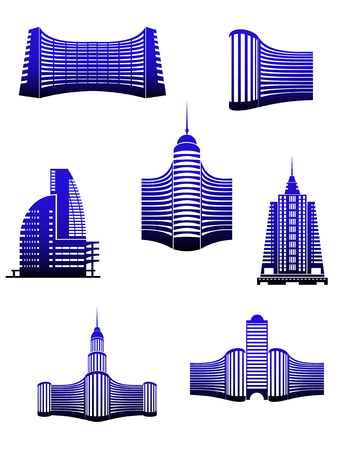 Symbols of modern buildings for design Vector