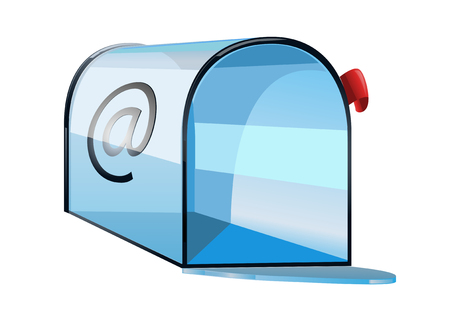 Glossy mailbox as a computer icon isolated on white Vector