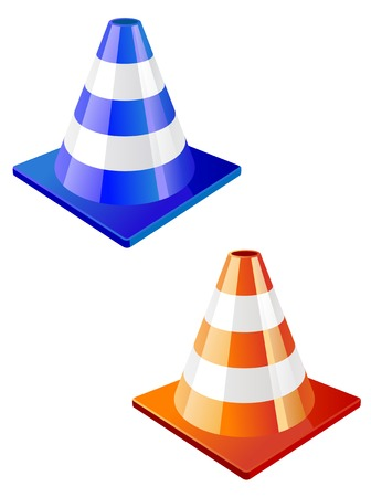 Traffic cone icon in two colors for design Stock Vector - 5852928