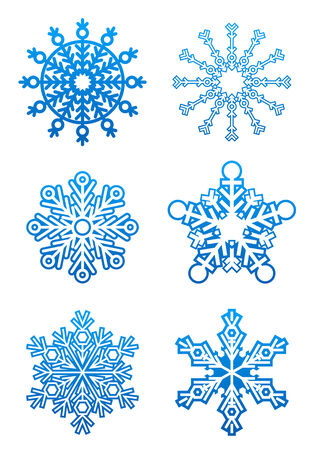 Set of snowflakes for design isolated on white Stock Vector - 5876340