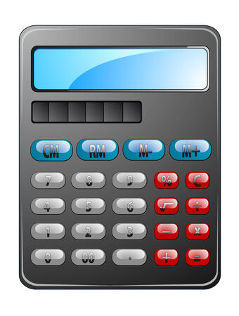 financial symbol: Electronic calculator as a financial symbol or icon
